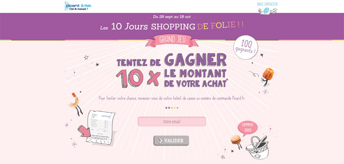 Grand Jeu 10 Jours Shopping Picard