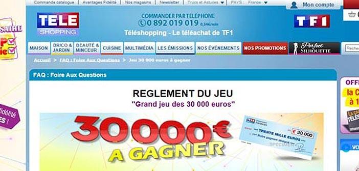 Grand Jeu Téléshopping des 30.000 euros