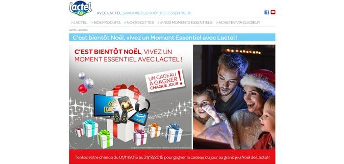 Grand Jeu Noël Lactel