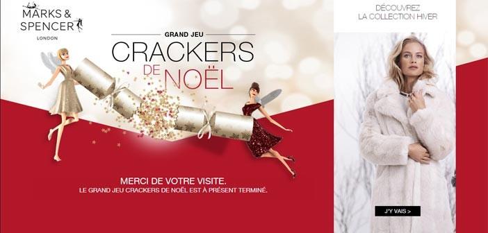 Jeu Marks & Spencer Crackers de Noël