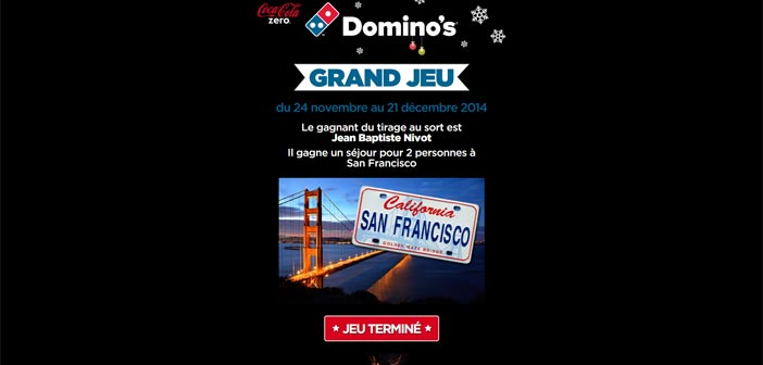 Grand Jeu Le Noël Dominos Pizza