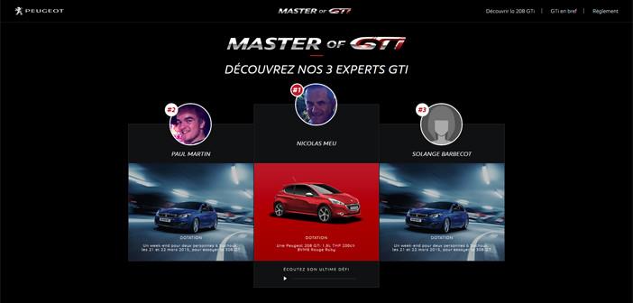 Grand Jeu Peugeot L'as de la GTi