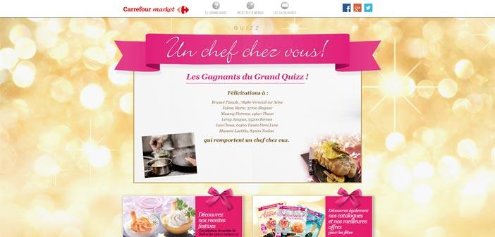 Jeu de Noël Carrefour Market