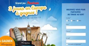 Grand Jeu Auchan 3 jours en Europe
