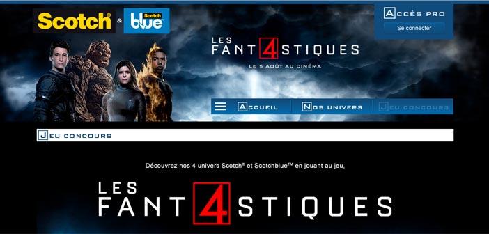 Grand Jeu Scotch Les 4 Fantastiques – Adhesifs-4fantastiques.com