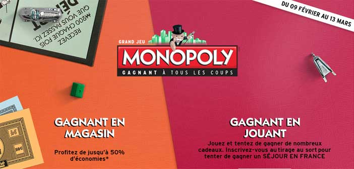 grand jeu monopoly intermarch 2016. Black Bedroom Furniture Sets. Home Design Ideas