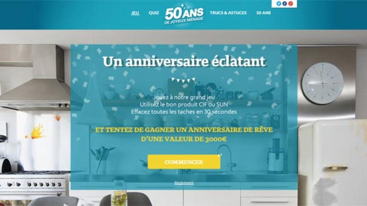 Grand Menage Par Ou Commencer jeu anniversaire 50 ans cif sun – joyeuxmenage.fr