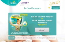 Jeu Concours Pampers Babies'R'Us