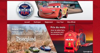 Jeu Concours Disney Plus de fun avec Cars