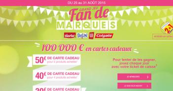 Grand Jeu Carrefour Fan de Marques