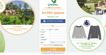 Jeu 100% Gagnant Center Parcs – Centerparcs.fr