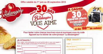 Jeu Anniversaire La Boulangère 30 ans – Laboulangere.com