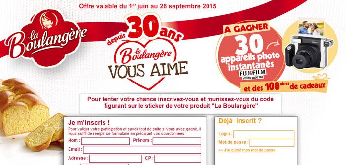 Jeu Anniversaire La Boulangère 30 ans