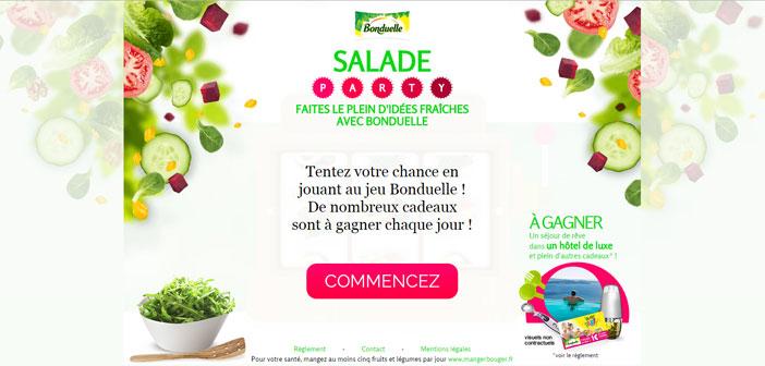 Jeu Bonduelle Salade Party – Bonduelle.fr