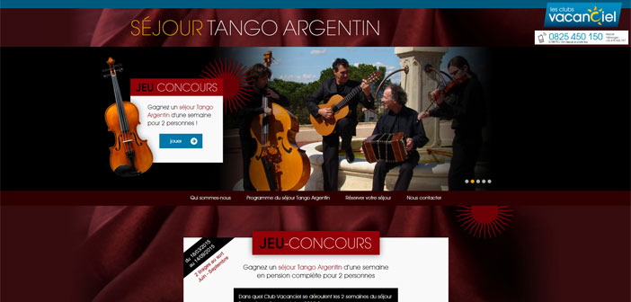 Jeu Concours Vacanciel Tango