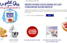Jeu Lait Concentré Sucré Nestlé