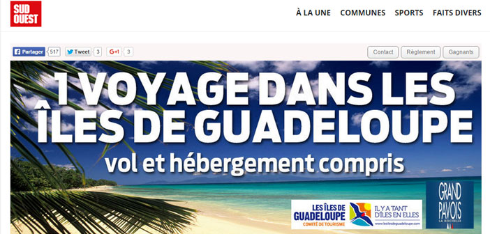 Jeu Sud Ouest Iles de la Guadeloupe
