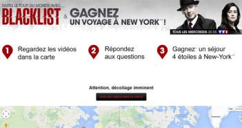 Jeu TF1 Tour du monde avec Blacklist
