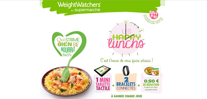 Jeu Weight Watchers Happy Lunchs