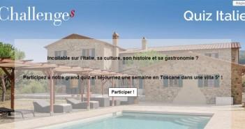 Grand Jeu Challenges Toscane – Challenges.fr