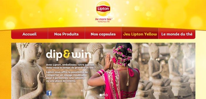 Grand Jeu Lipton Dip and Win