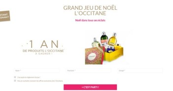 Grand Jeu Noël L'Occitane en Provence