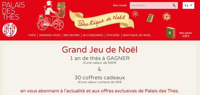 Grand Jeu de Noël Palais des Thés