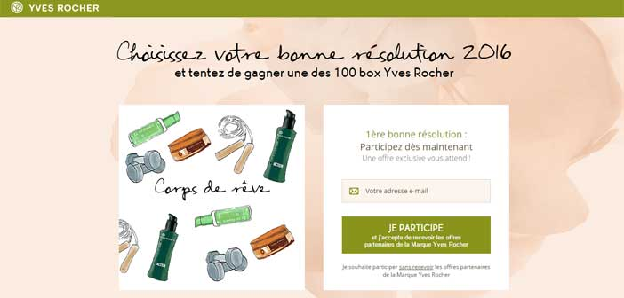 Jeu Concours Yves Rocher 2016