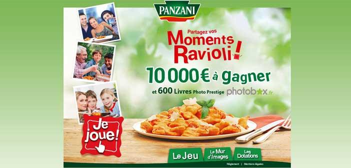 Jeu Les moments Ravioli Panzani