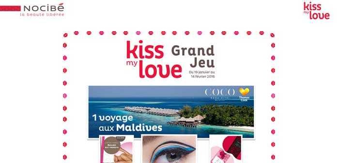 Grand Jeu Nocibé Kiss my Love