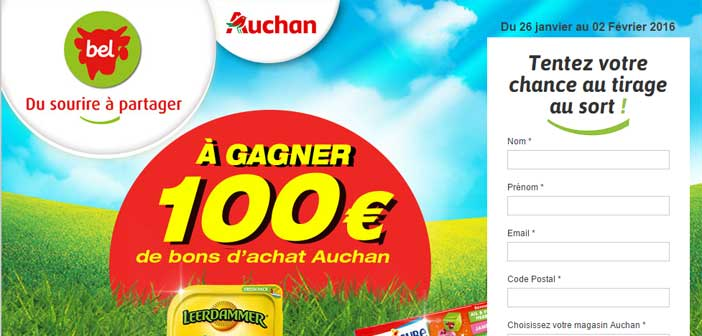 Grand Jeu Auchan Tous Fans de Fromage