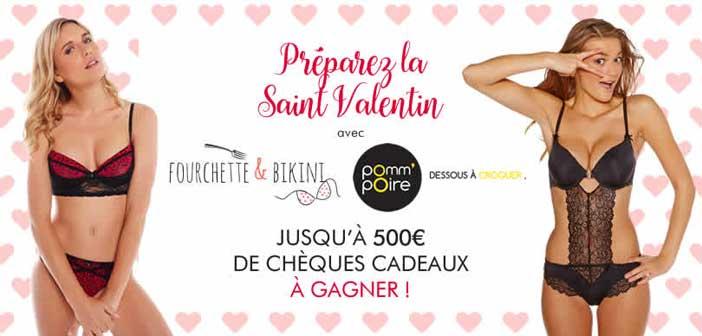Jeu Saint Valentin Fourchette&Bikini