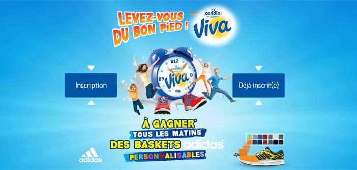 Jeu Candia Viva Levez-vous du bon pied – Candia.fr