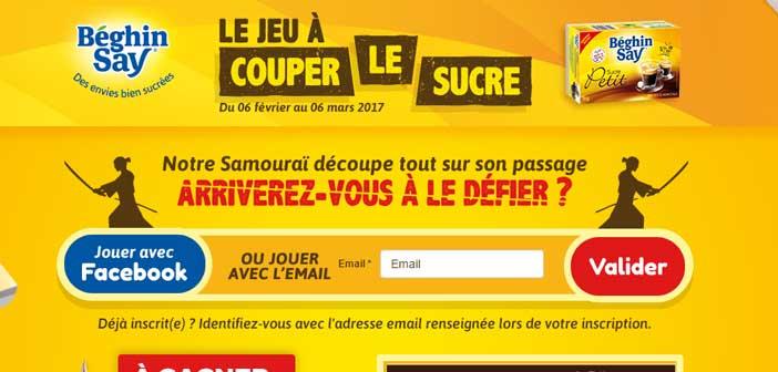 Jeu à Couper le Sucre - Beghin-Say.fr