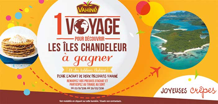 www.vahine.fr - Jeu Chandeleur Vahiné 2018