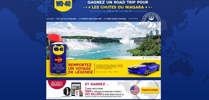 Grand Jeu WD40 Les chutes du Niagara