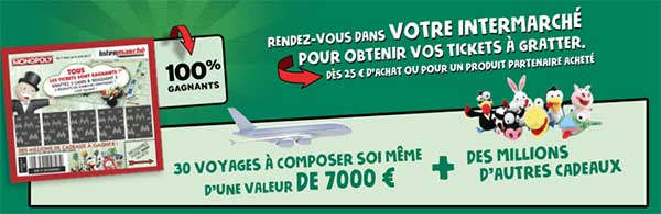 Grand Jeu Intermarché Monopoly 2017