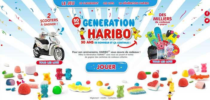 Grand Jeu Génération Haribo 50 ans