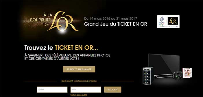 Grand Jeu du Ticket en Or