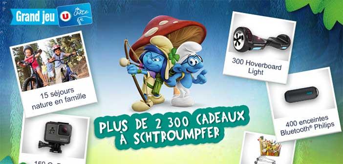 Grand jeu Carte U Les Schtroumpfs chez U