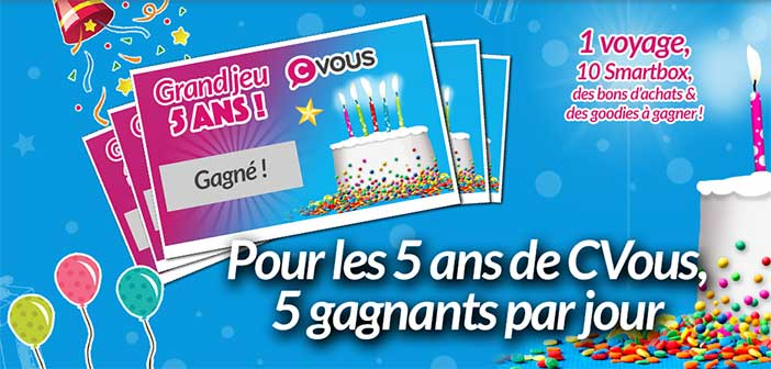grand jeu anniversaire cvous 5 ans bestofconcours. Black Bedroom Furniture Sets. Home Design Ideas