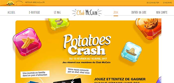 Jeu Potatoes Crash McCain