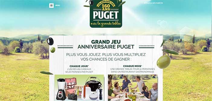 Grand Jeu Anniversaire Puget 160 ans