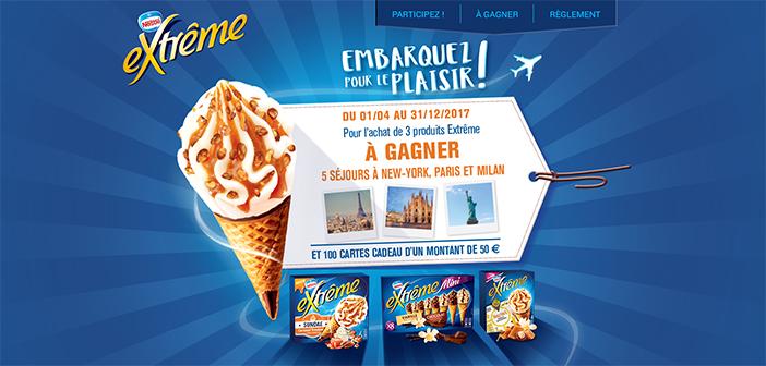 Jeu Nestlé Extrême Embarquez pour le plaisir