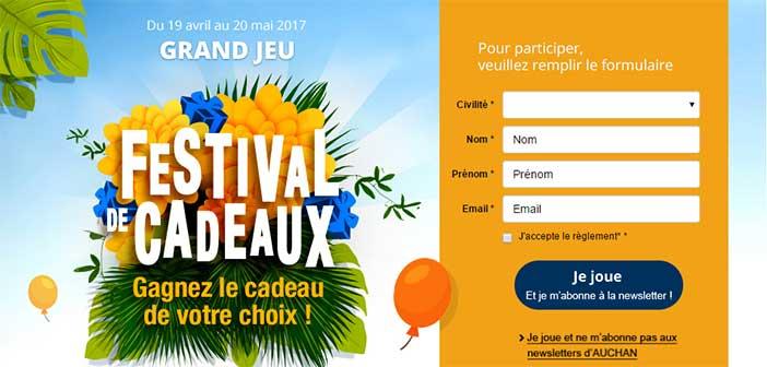 Jeu Auchan Festival de Cadeaux