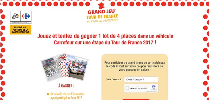 www.carrefour.fr/grandjeutourdefrance - Carrefour Grand Jeu Tour de France