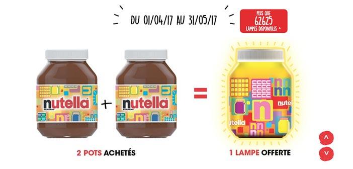Offre Ma Lampe Nutella