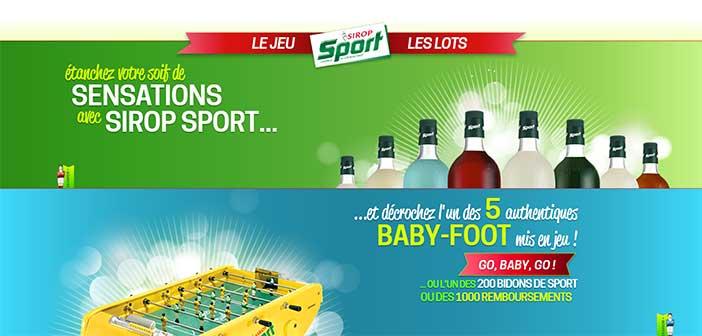 siropsport.fr/babyfoot - Grand Jeu Sirop Sport Babyfoot