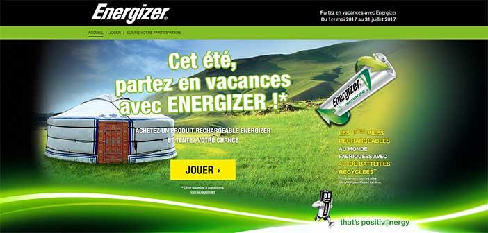 www.energizer-promo.fr - Jeu Energizer Partez en vacances