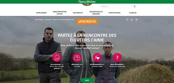 www.fleurymichon.fr - Jeu Fleury Michon La Route des Éleveurs